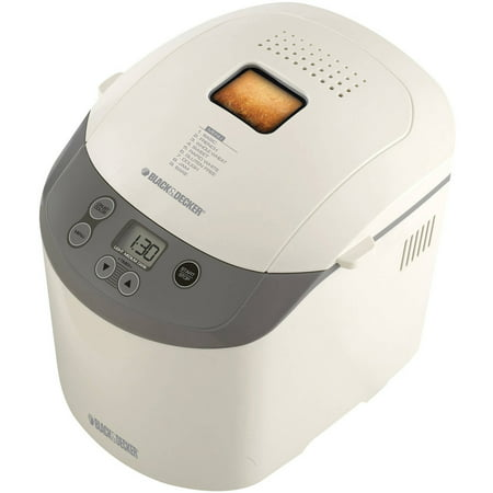 BLACK+DECKER Bread Maker, Bread Machine, White, BK1015W