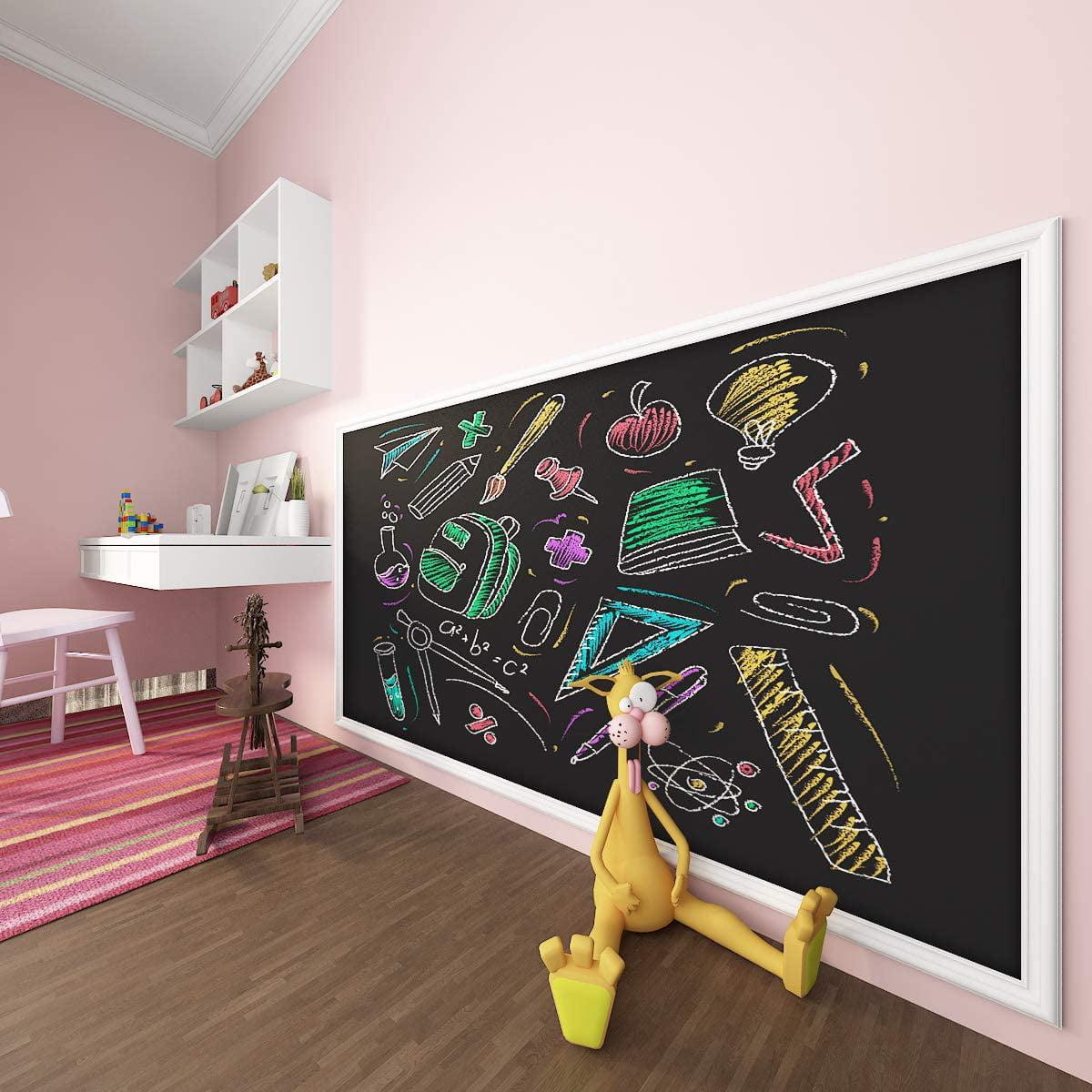 Large Blackboard 60x 200cm Removable Wall Sticker Chalkboard Decal Free ChaHFUK