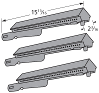 Char Broil Gas Grill 80001254 Replacement Main Burner 80000431, 3 Pack