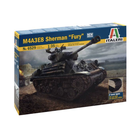Italeri 6529 US Army M4A3E8 Sherman Tank 'Fury' 1/35 Scale Plastic Model Kit