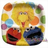 Sesame Street Party Large Pocket Paper Plates (8ct)