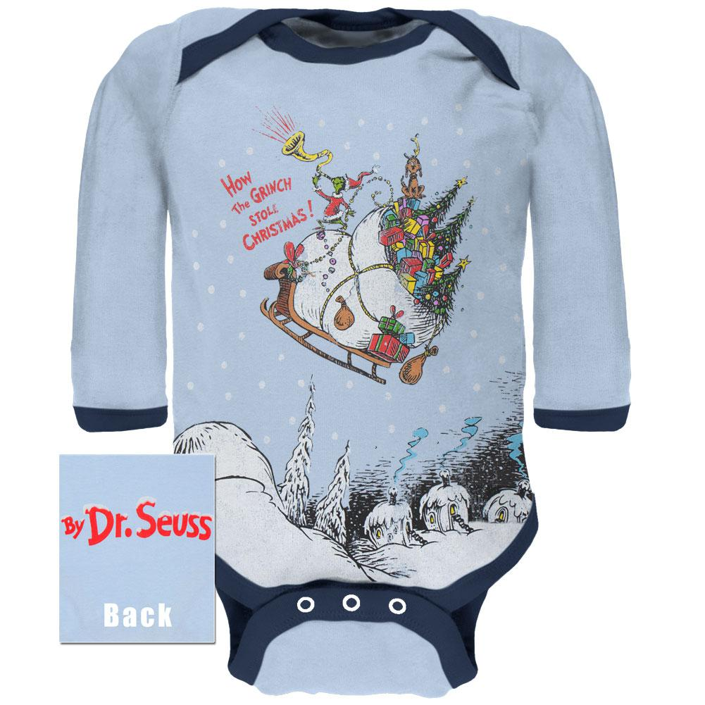 Dr Seuss How The Grinch Stole Christmas Baby One Piece Walmart Com