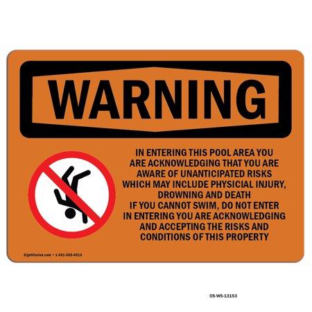 Osha Warning Sign Emergency Evacuation With Symbol Made In The