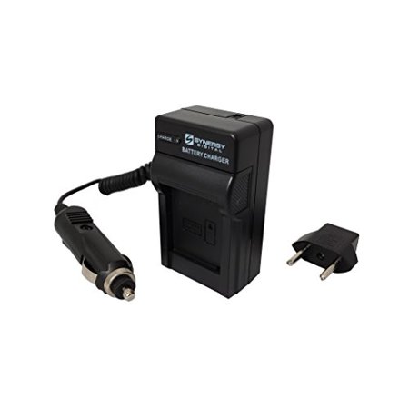 Mini Battery Charger Kit for Nikon EN-EL8 & Kodak KLIC-7000 Batteries - (with fold-in wall plug, car & EU adapters) - Replacement for Nikon MH-62