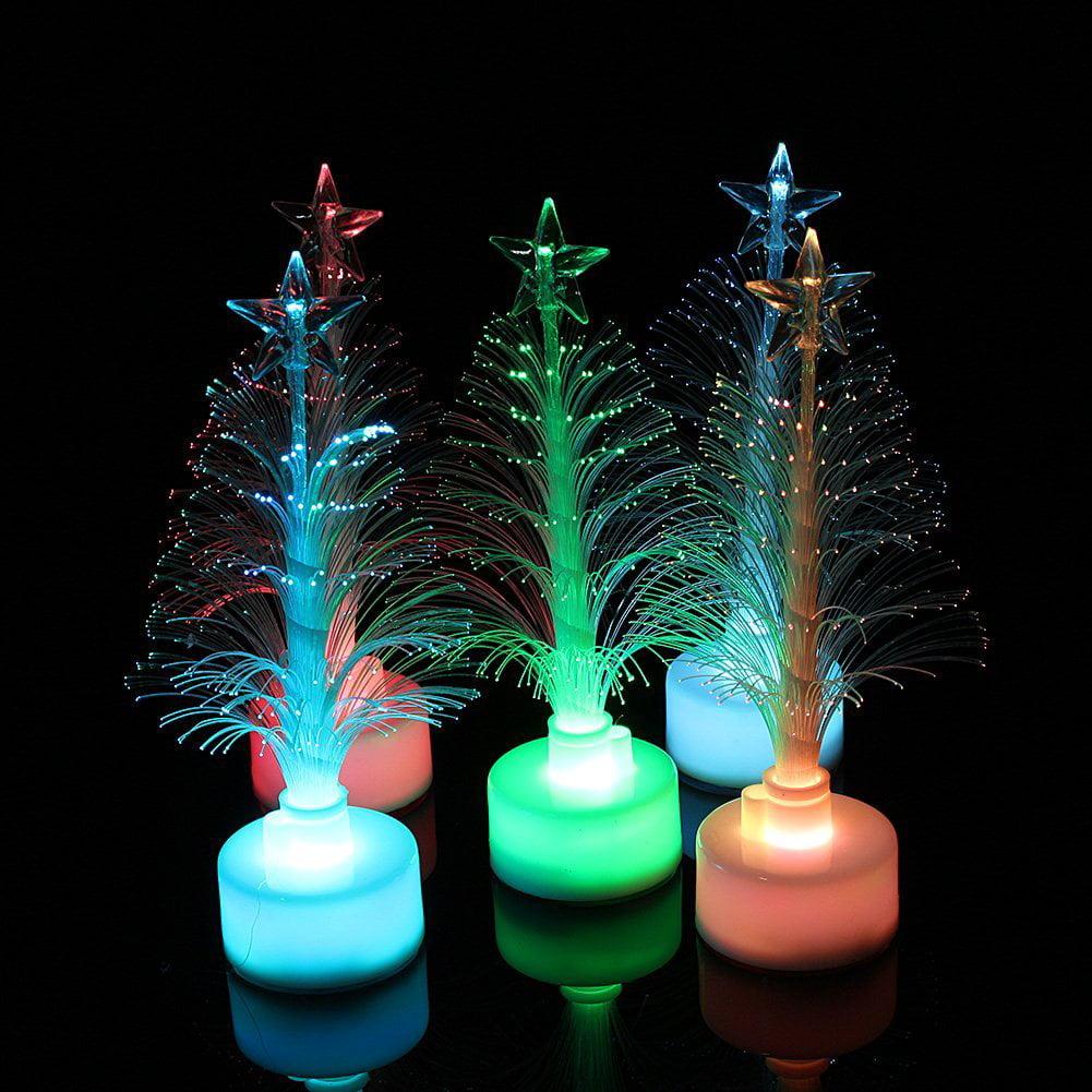 HURRISE 7 Colors Holiday Scene LED Fiber Optical Assorted Color Led Light up Christmas Tree Children Xmas Gift