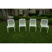 Strata Furniture Milan All Season Resin Patio Dining Chairs - Set of 4