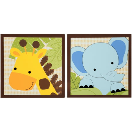 Lambs Ivy Bedtime OriginalsTM Jungle Buddies Collection Wall Decor 2 Pc Box