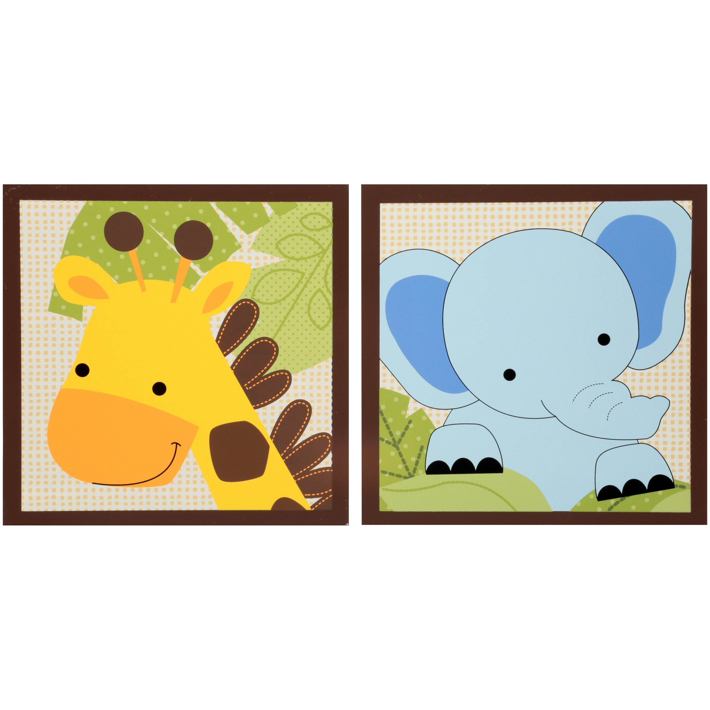 Lambs & Ivy Bedtime Originals™ Jungle Buddies Collection Wall Decor 2 pc Box