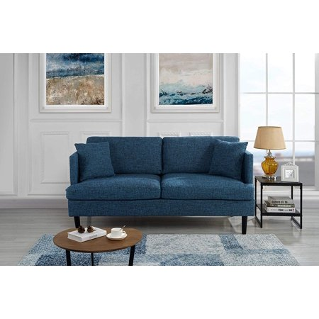 Prime Modern Upholstered Loveseat Sofa Couch Blue Inzonedesignstudio Interior Chair Design Inzonedesignstudiocom