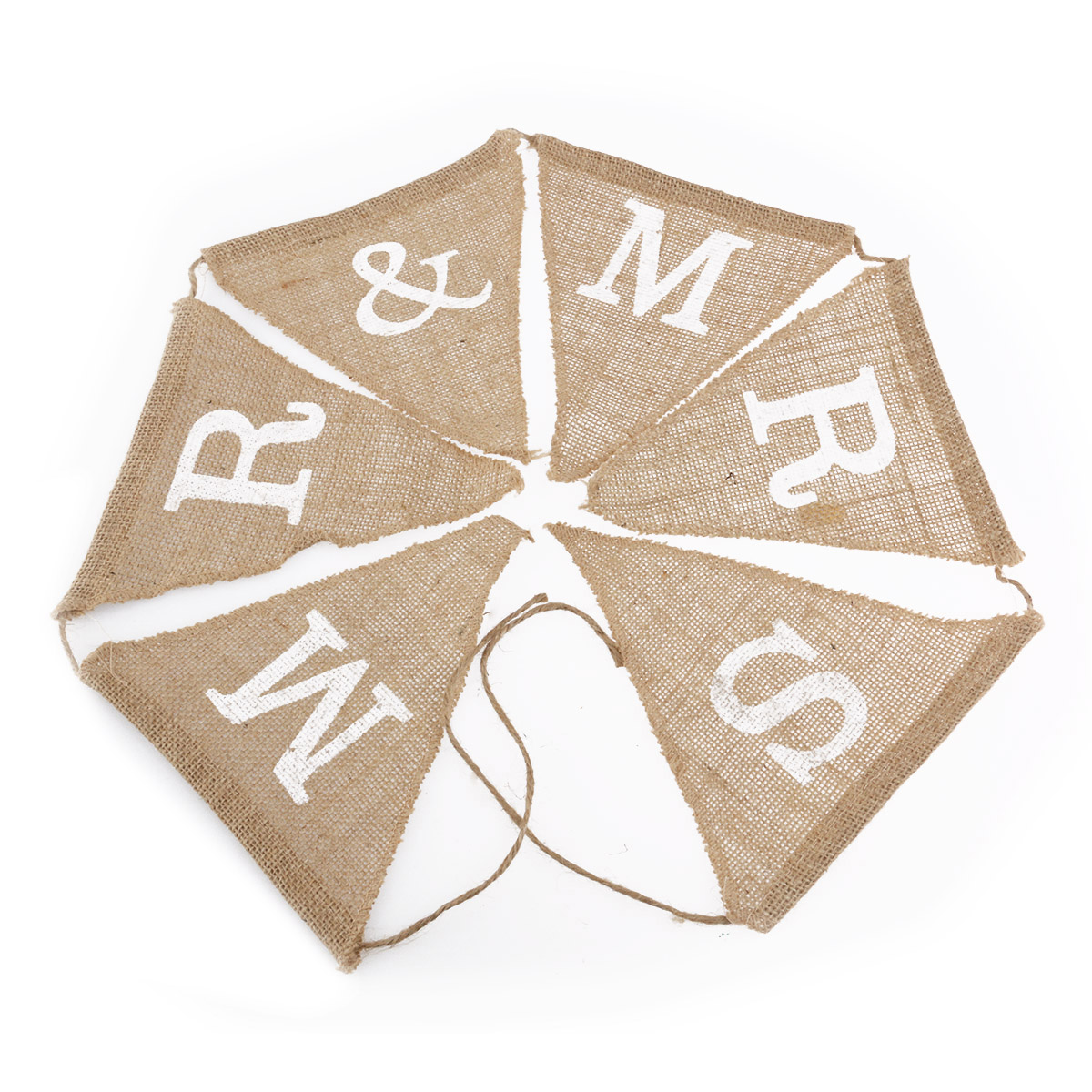 6pcs MR MRS Hessian Burlap Banner Wedding Party Decoration Bunting