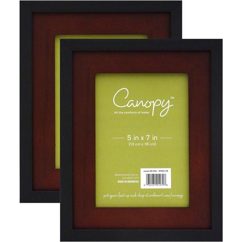 """Canopy 2pk 5"""" x 7"""" Frame, Black/Walnut"""