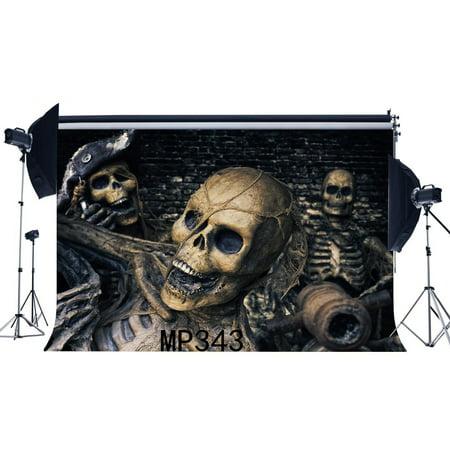 HelloDecor Polyster 7x5ft Photography Backdrop Halloween Horror Night Spooky Skulls Halloween Brick Wall Newborn Baby Toddler Adults Masquerade Portraits Background Photo Studio Prop](Masquerade Ball Backdrops)