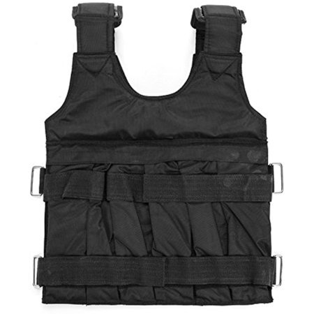 edf9c9b320b Adjustable Weight Vest 110lbs Workout Weighted Vest Comfortable Exercise  Training Fitness - Walmart.com