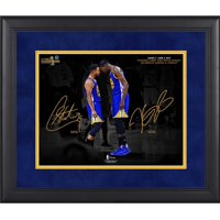 """Stephen Curry, Kevin Durant Golden State Warriors Framed 11"""" x 14"""" 2017 NBA Finals Champions Celebration Spotlight Photograph - Facsimile Signature"""