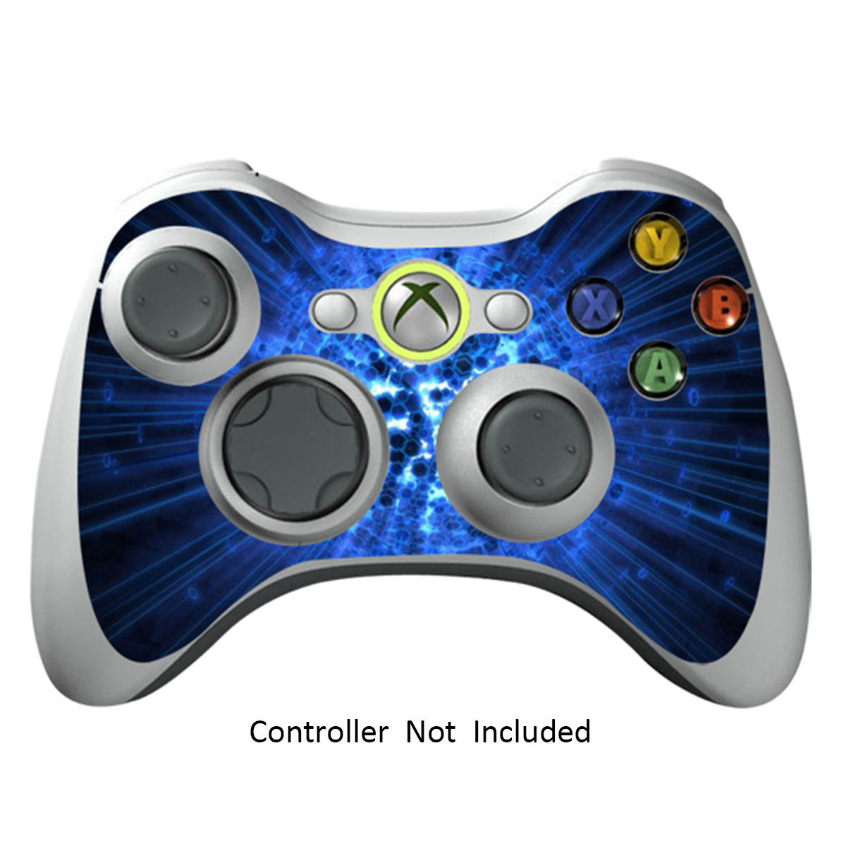 Skin Stickers for Xbox 360 Controller - Vinyl High Gloss Sticker for X360 Slim Wired Wireless Game Controllers - Protectors Stickers Controller Decal - Blue Explosion