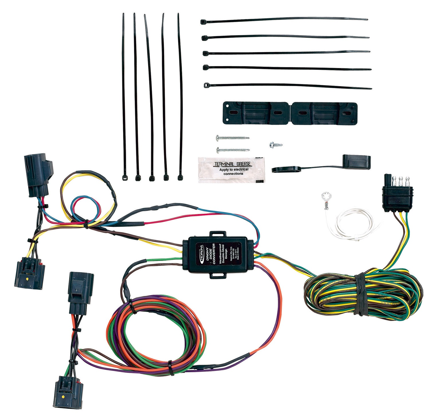 Hopkins Towing Solution 56204 Plug-In Simple Vehicle To Trailer Wiring Harness