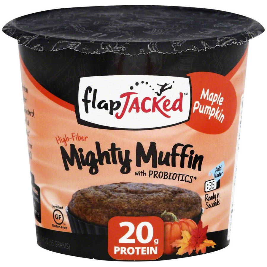 Flapjacked Mighty Muffin Maple Pumpkin, 1.09 oz, (Pack of 12)