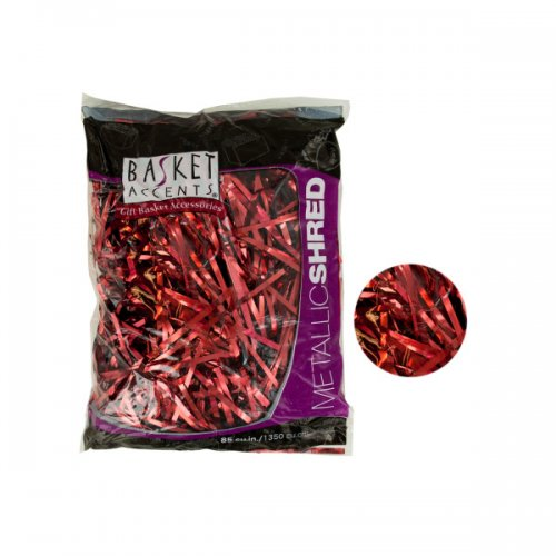 Metallic Gift Shred in Red - Set of 24