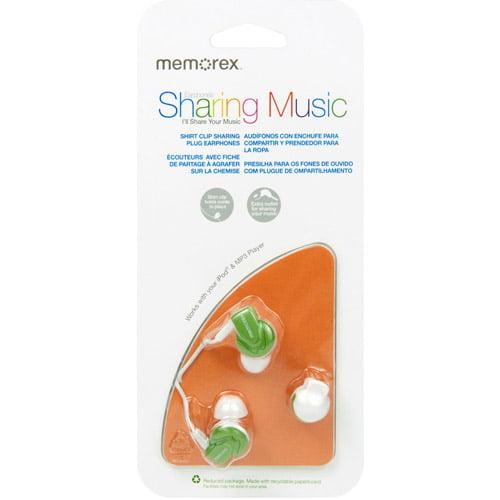Memorex In-Ear Headphones, Green
