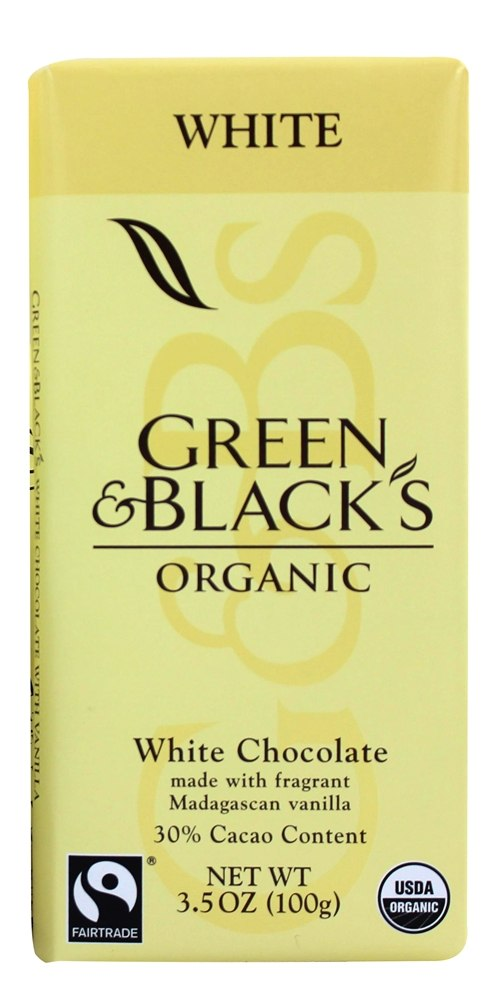 Green & Black's Organic White Chocolate Bar 30% Cocoa 3.5 oz(pack of 12) by