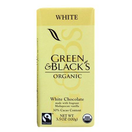 Green & Black's Organic - Chocolate Bar 30% Cacao White Chocolate - 3.5 oz. pack of