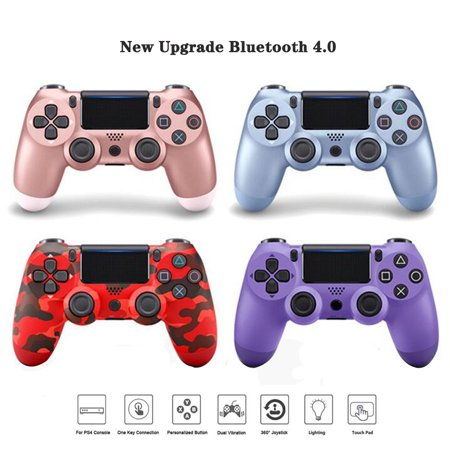 Wireless PS4 Controller Bluetooth Gamepad Joystick For 4 Game Console PC Steam Color:Camouflage red - image 2 de 8