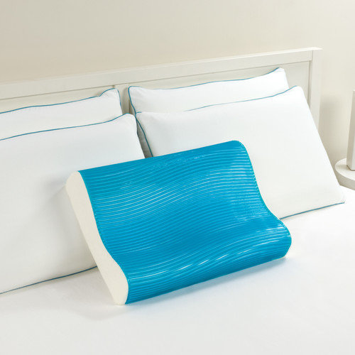 Comfort Revolution CERULEAN WAVES 201-0A Hydraluxe Cooling Gel Contour Pillow