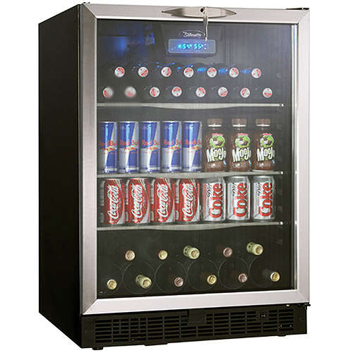Danby 112-Can and 11-Wine Bottle Beverage Center with LED Display, DBC514BLS