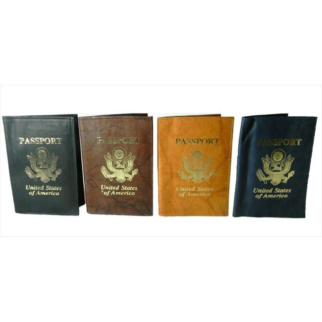 Leather in Chicago USA Eagle Passport Cover