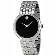 Movado Classic Black Dial Stainless Steel Mens Watch 0606337