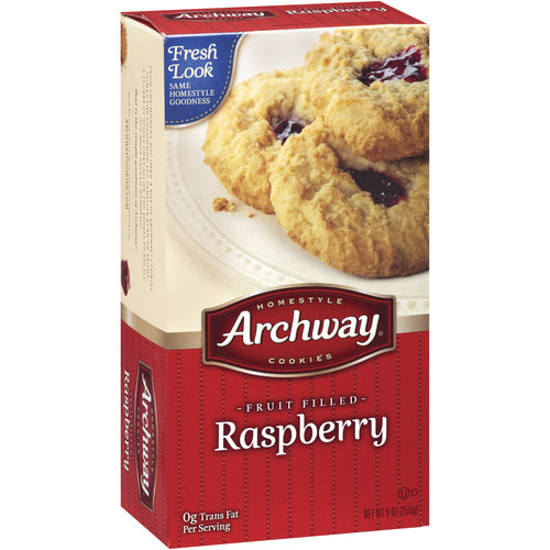 Archway Fruit Filled Raspberry Cookies, 9 oz