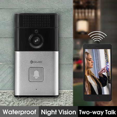 Video Security Door (Digoo Bluetooth WIFI Wireless Smart Home Night Visual Video Door Bell Security 720P Camera Free APP Control Intercom Alarm Clear Night Vision)