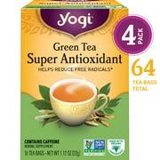 (Pack of 4) Yogi Tea, Green Tea Super Antioxidant Tea, Tea Bags, 16 Ct, 1.12 OZ