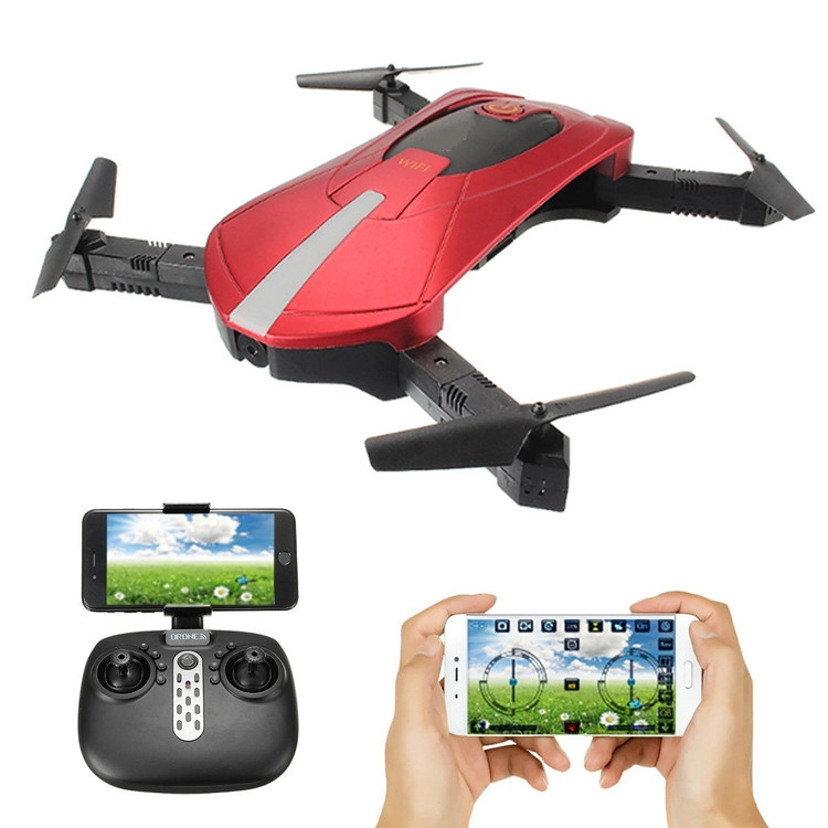RC Quadcopter with Camera 2MP HD Selfie Drone Foldable Mini Remote Control Helicopter Altitude Hold Headless WiFi Quadcopter