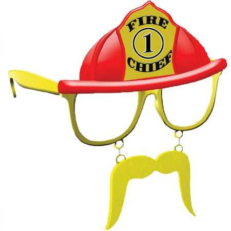 Fire Chief Clear Sunstache Adult Halloween - Fire Safety Tips For Halloween