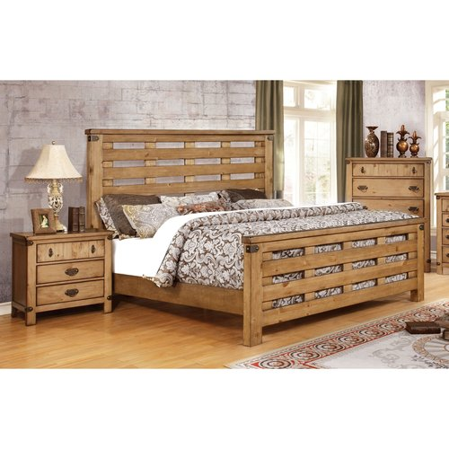 Furniture of America Moira II Country Style 3-Piece Weathered Elm Bedroom Set, Multiple Sizes by Furniture of America