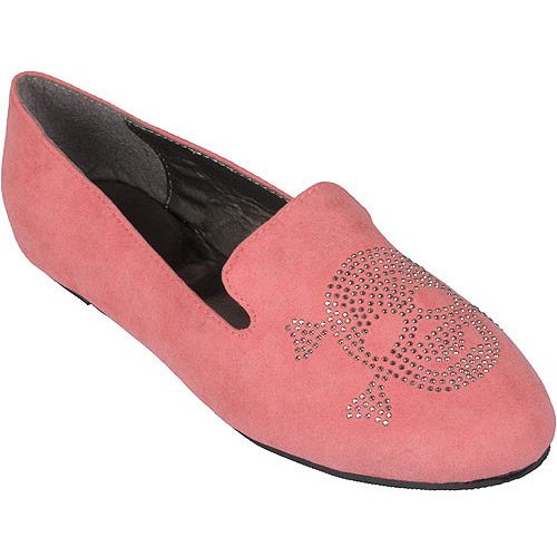 Brinley Co Womens Round Toe Stud Accent Flats