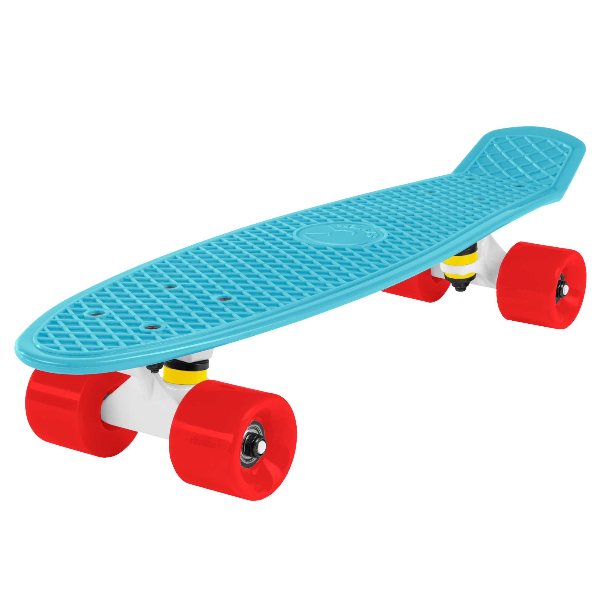 Cal 7 Complete Mini Cruiser Skateboard, 22 Inch Plastic in Retro Design (Lotus)
