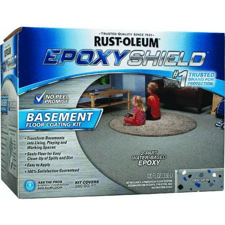 Rust Oleum Epoxyshield Basement Floor Coating Kit Walmart