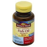 Nature Made Fish Oil Pearls Softgels, 500 Mg, 90 Ct