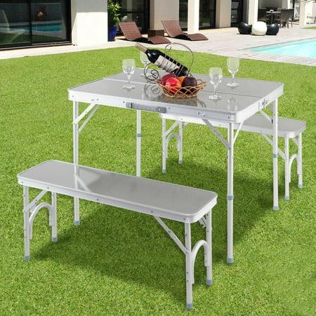 Fabulous Goplus Portable Folding Aluminum Picnic Table Camping Creativecarmelina Interior Chair Design Creativecarmelinacom