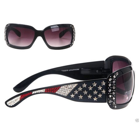 Montana West Ladies Sunglasses American Flag Collection Western Rhinestone - Halloween Sunglasses Wholesale
