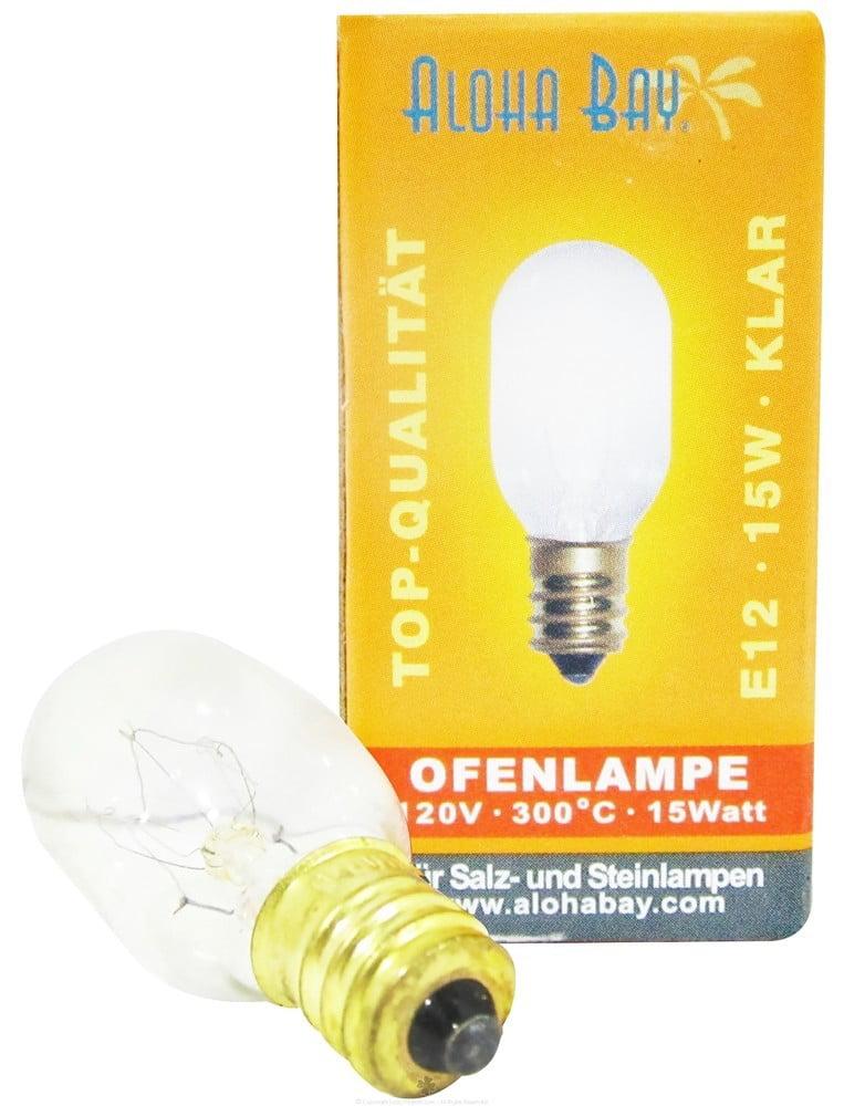 Himalayan Salt - Lamp Replacement Bulb 15 Watts/120 Volts Clear ...