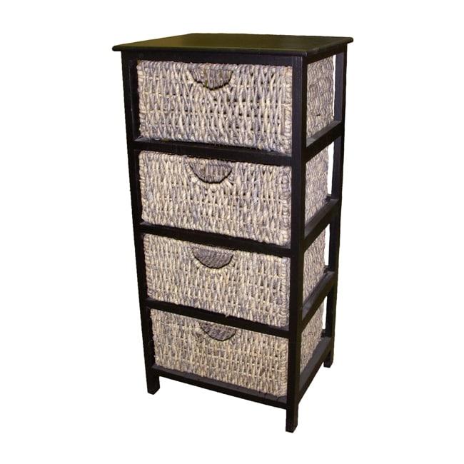 America Basket Compact 4-Drawer Wicker Basket Storage Shelf by Overstock