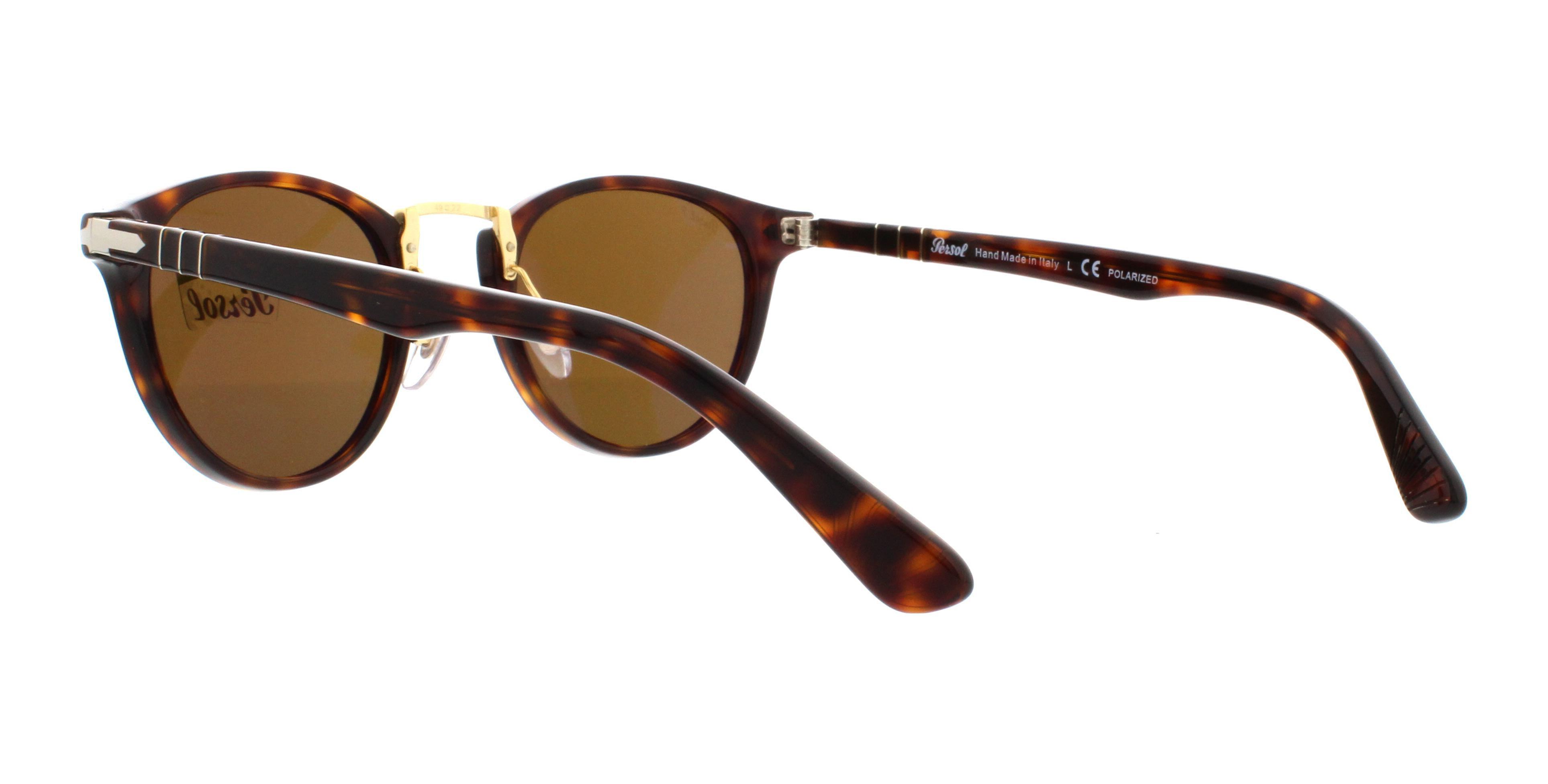 b10bb89307edd PERSOL - PERSOL Sunglasses PO 3108S 24 57 Havana 49MM - Walmart.com