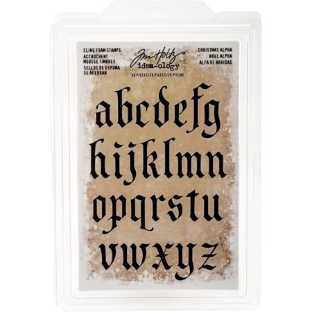 Idea-Ology Cling Foam Stamps 26/Pkg-Christmas Lowercase Alpha 1