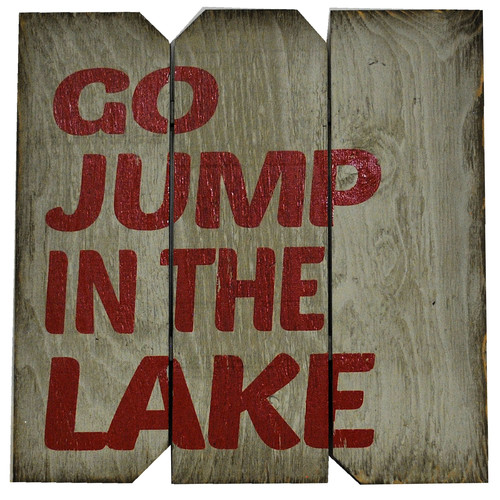 Boulder Innovations Go Jump in the Lake Wall D cor
