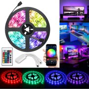 LED Strip Lights Kit, EEEKit Color Changing Rope Lights 16.4ft Flexible 150 LED SMD 5050 RGB Light Strips with 24 Key IR Remote Control to Music Apply for TV, Bedroom, Party and Home Decoration