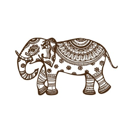 (Decal House Elephant Mural Wall Decal)