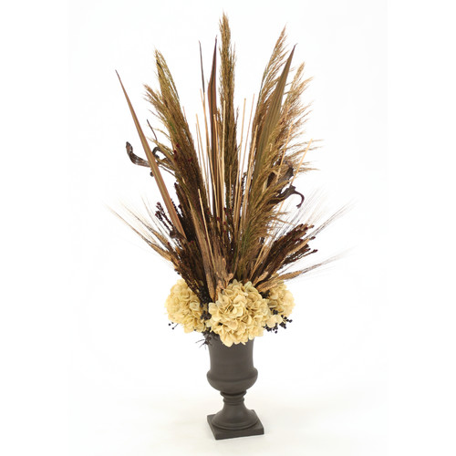 Distinctive Designs Fall Toned Silk Arrangement with Hydr...
